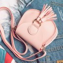 Trendy Tassels Decoration PU Leather Shoulder Bag Small Flap Bag Crossbody Bag