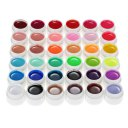 36 Pure Colors 5g Nail Art Glitter UV Gel Acrylic Builder Glue Solid