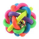Colorful Pet Doy Chewing Ball Cat Rainbow Color Rubber Bell Sound Ball