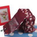 Lady Travel Toiletry Hanging Wash Makeup Cosmetic Folding Organizer Bag