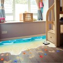 Beach Pattern 3D Flooring Wall Sticker Floor Painting Self-adhesive Removable