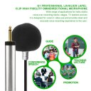 G1 Professional Lavalier Lapel Clip High Fidelity Omnidirectional Microphone