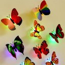 LED Lighting Colorful Butterfly Wall Stickers LED Night Light Home Wall Decor