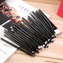 20 pcs Professional Makeup Beauty Cosmetic Blush Black Brushes Kits